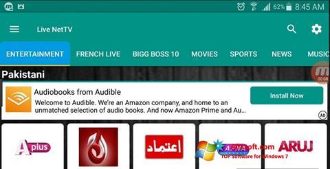 Screenshot Net TV para Windows 7