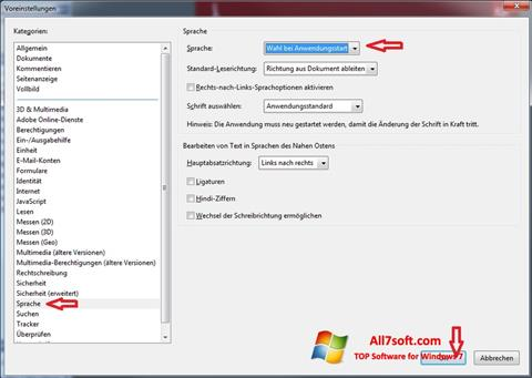 Screenshot Adobe Reader para Windows 7