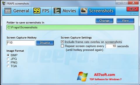 Screenshot Fraps para Windows 7