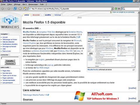Screenshot Mozilla Firefox para Windows 7