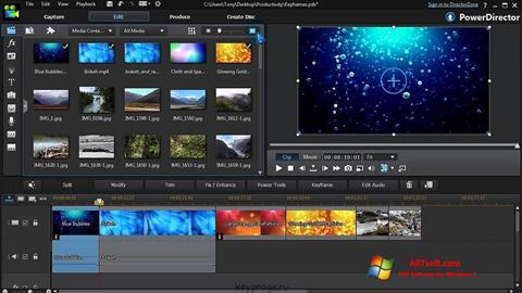 Screenshot CyberLink PowerDirector para Windows 7
