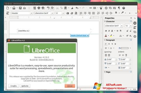 Screenshot LibreOffice para Windows 7