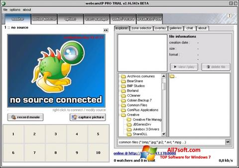 Screenshot webcamXP para Windows 7