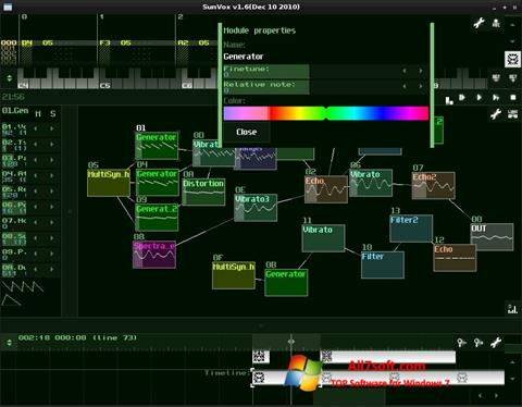 Screenshot SunVox para Windows 7