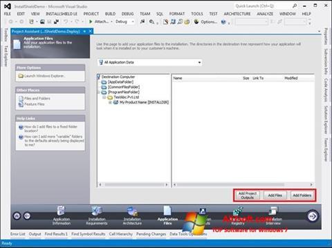 Screenshot InstallShield para Windows 7