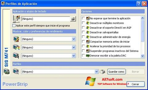 Screenshot PowerStrip para Windows 7