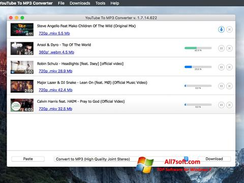Screenshot Free YouTube to MP3 Converter para Windows 7
