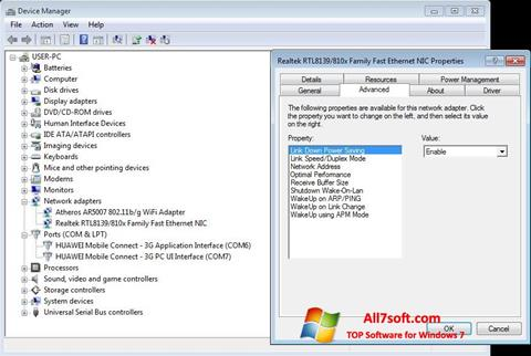 Screenshot REALTEK RTL8139 para Windows 7