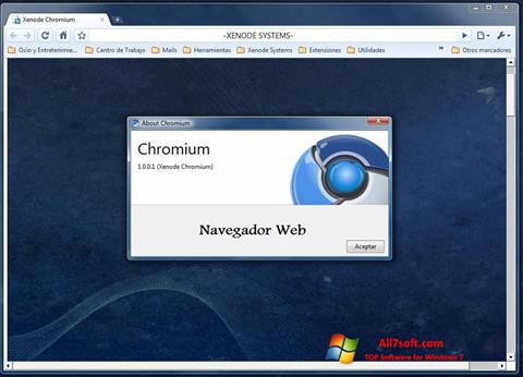 Screenshot Chromium para Windows 7