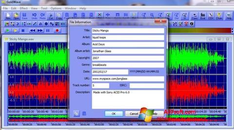 Screenshot GoldWave para Windows 7