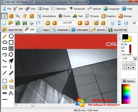 Screenshot PDF Reader para Windows 7