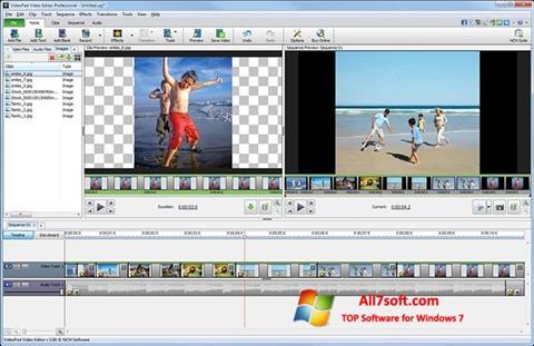 Screenshot VideoPad Video Editor para Windows 7