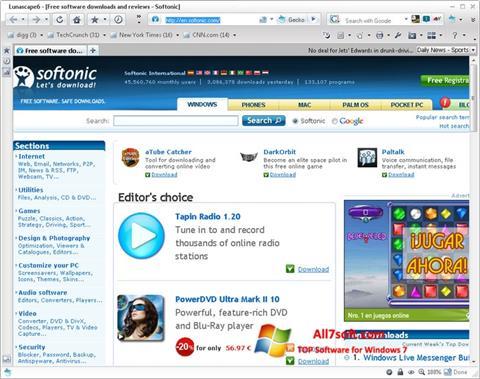 Screenshot Lunascape para Windows 7