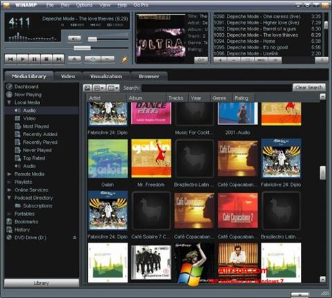Screenshot Winamp para Windows 7