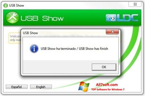 Screenshot USB Show para Windows 7