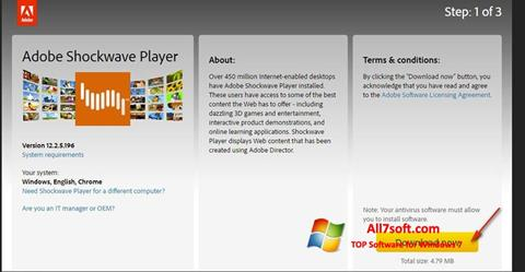 Screenshot Adobe Shockwave Player para Windows 7