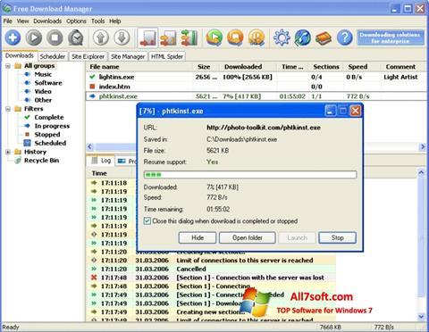Screenshot Download Master para Windows 7