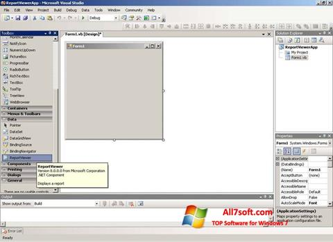 Screenshot Microsoft Visual Studio Express para Windows 7