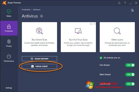 Screenshot Avast para Windows 7