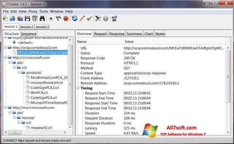 Screenshot Charles para Windows 7