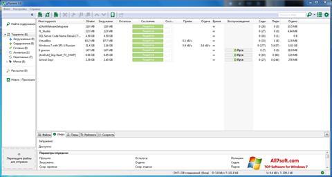 Screenshot uTorrent para Windows 7