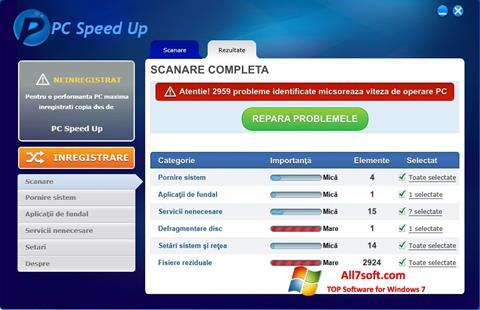 Screenshot PC Speed Up para Windows 7