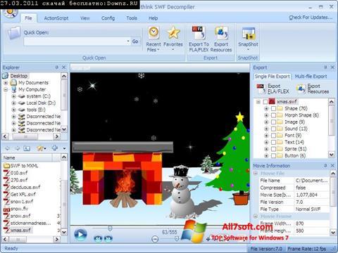 Screenshot Sothink SWF Decompiler para Windows 7