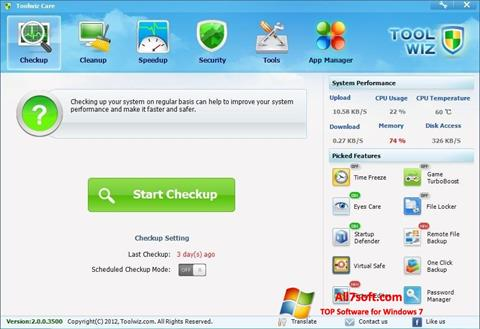 Screenshot Toolwiz Care para Windows 7