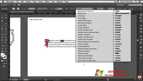 Screenshot Adobe Illustrator para Windows 7