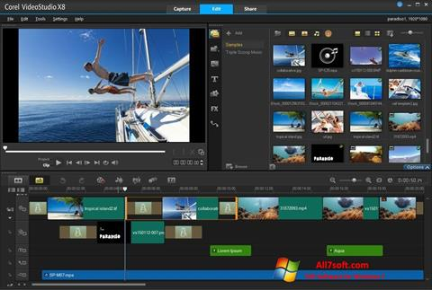 Screenshot Corel VideoStudio para Windows 7