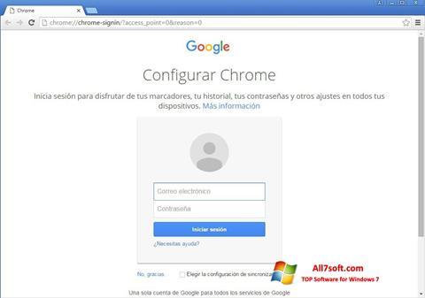 Screenshot Google Chrome Canary para Windows 7