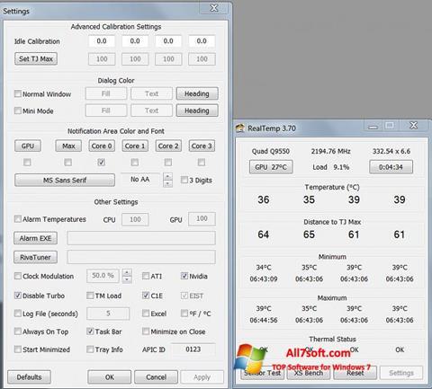 Screenshot Real Temp para Windows 7