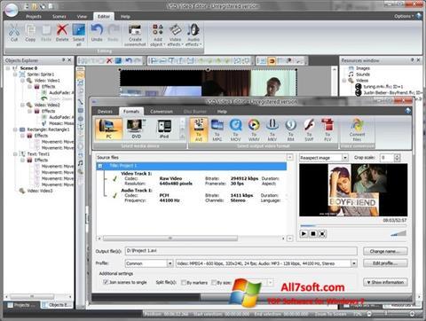 Screenshot Free Video Editor para Windows 7