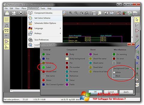 Screenshot KiCad para Windows 7