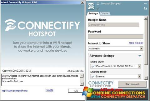 Screenshot Connectify para Windows 7