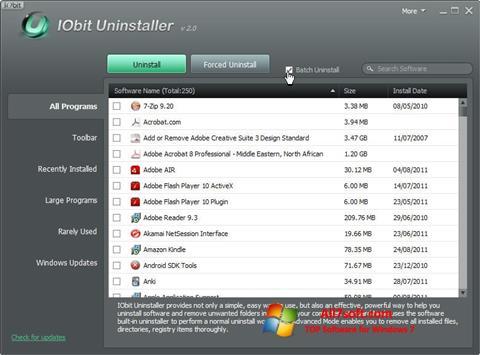 Screenshot IObit Uninstaller para Windows 7