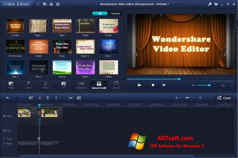 Screenshot Wondershare Video Editor para Windows 7