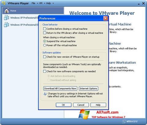 Screenshot VMware Player para Windows 7