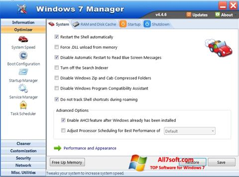 Screenshot Windows 7 Manager para Windows 7
