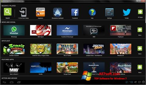 Screenshot BlueStacks para Windows 7