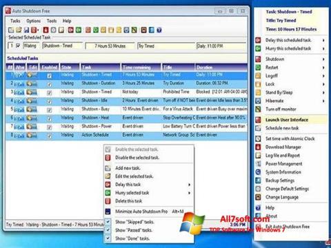 Screenshot Auto ShutDown para Windows 7