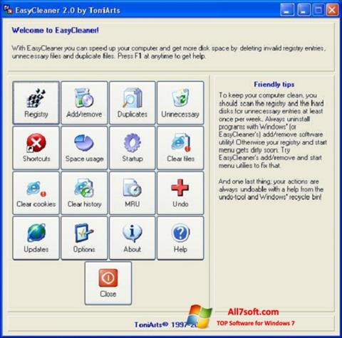 Screenshot EasyCleaner para Windows 7