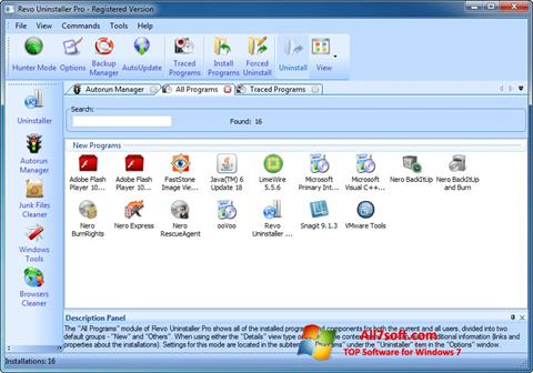Screenshot Revo Uninstaller Pro para Windows 7