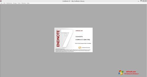Screenshot EndNote para Windows 7