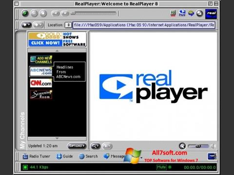 Screenshot RealPlayer para Windows 7