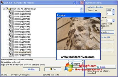 Screenshot Zero Assumption Recovery para Windows 7