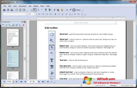 Screenshot Infix PDF Editor para Windows 7
