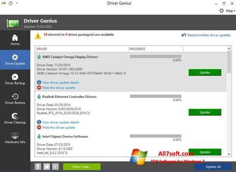 Screenshot Driver Genius para Windows 7