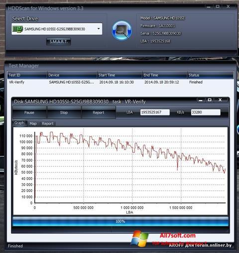Screenshot HDDScan para Windows 7