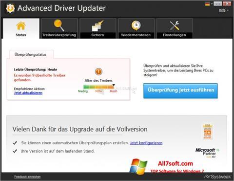 Screenshot Advanced Driver Updater para Windows 7